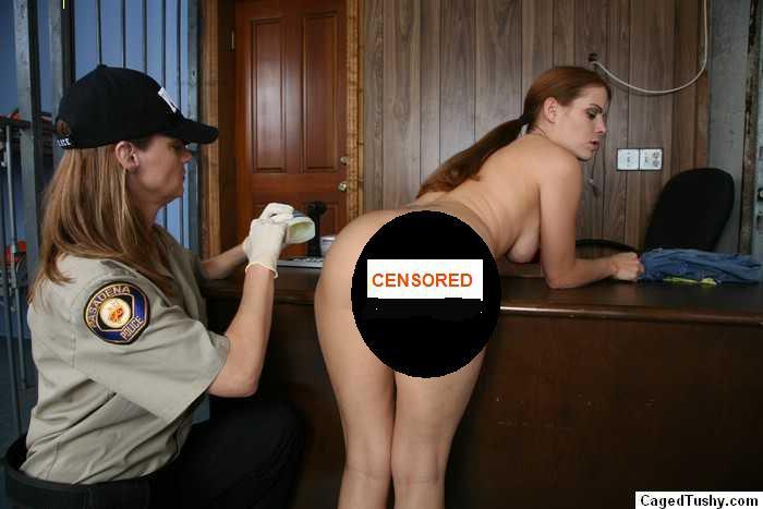 female embarassing strip search