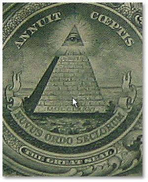 This symbol of capitalism and of the Illumanti bent on destroying it can be found on the back of the $1 bill.