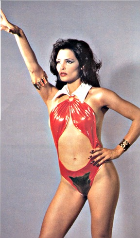 In this cheesy and unflattering costume TALISA SOTO hardly does justice to a ...