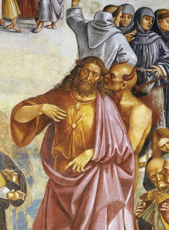 DON'T be deceived. This Jesus lookalike in a painting by Luca Signorelli is the Antichrist.
