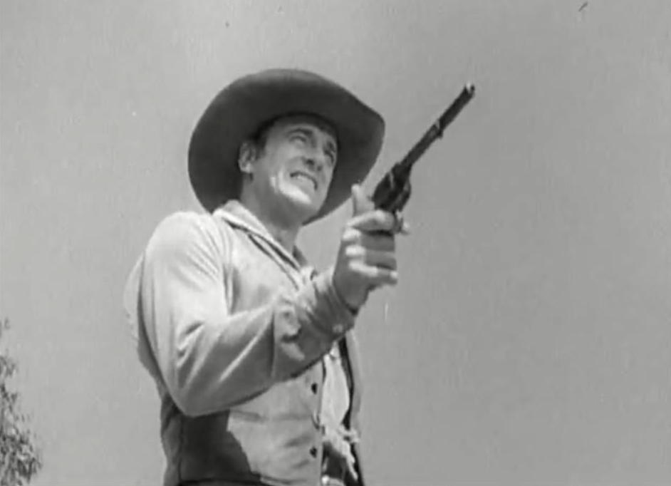 "MARSHALL Matt Dillon (James Arness) was fast on the draw with his Colt in TV classic ""Gunsmoke."""