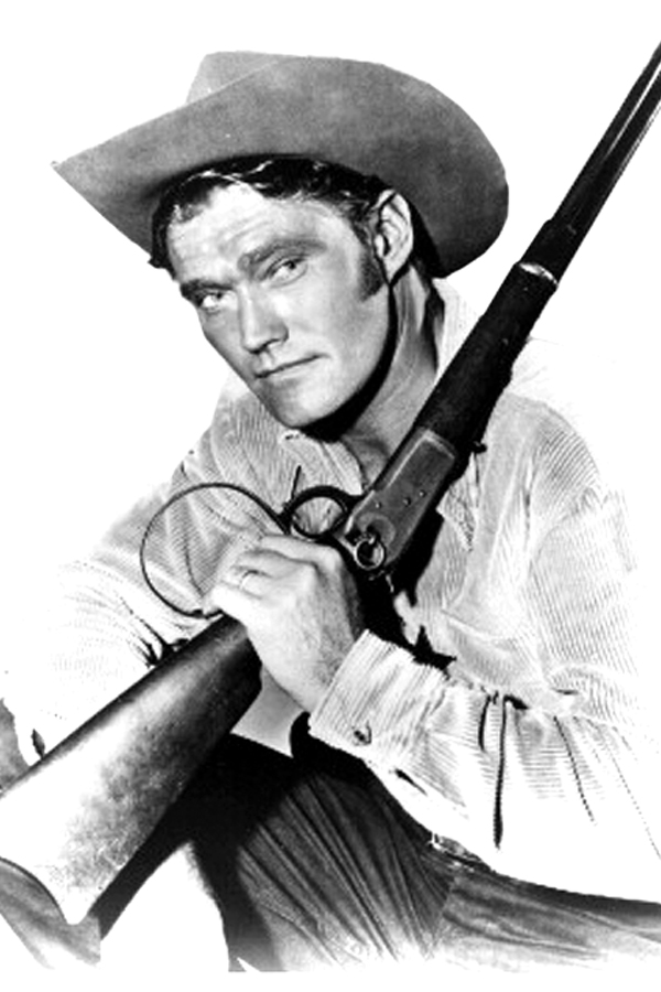 "WHOLESOME TV  show ""The Rifleman"" starred Chuck Connors and his Winchester rifle."