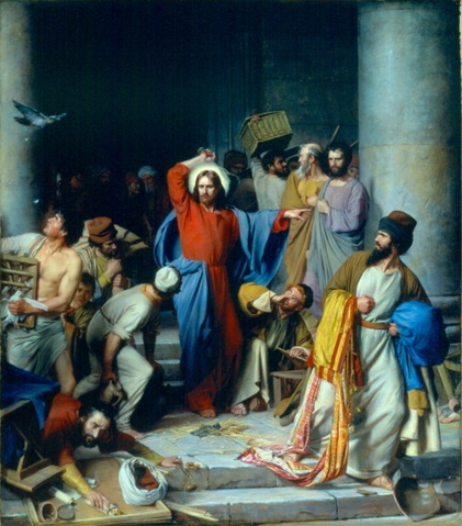 TALE THAT! Christ used a whip to cast money lenders out of the temple -- but today He would use modern weapons..