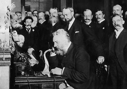 INVENTOR Alexander Graham Bell patented the telephone in 1876.