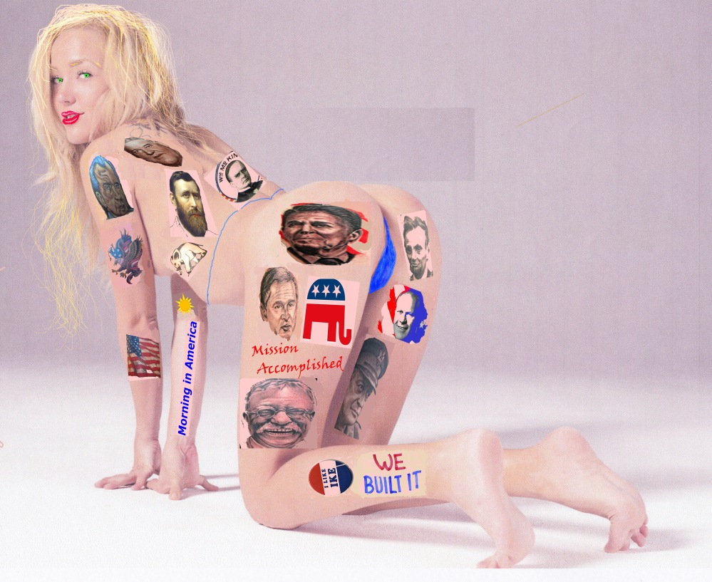 BABE-RAHAM LINCOLN: Arch conservative Debbie Gurvney bares her support for the party of Lincolnl