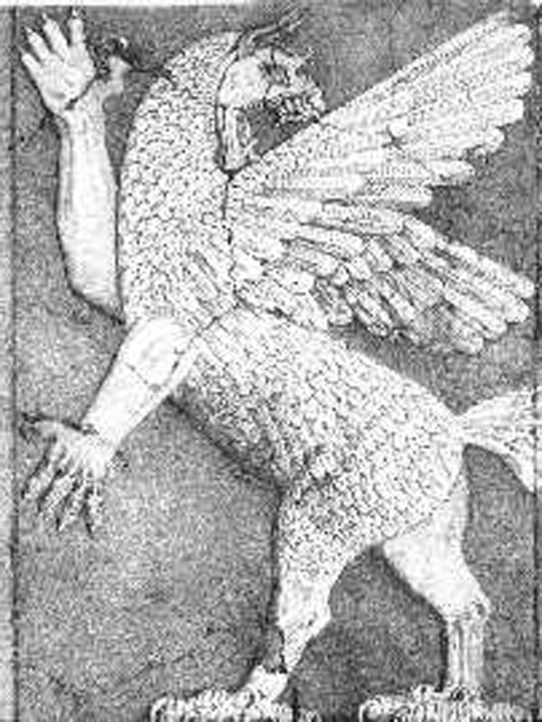 TERRIFYING Mesopotamian chaos monster-god  Anzu may have been one of the Old Ones.