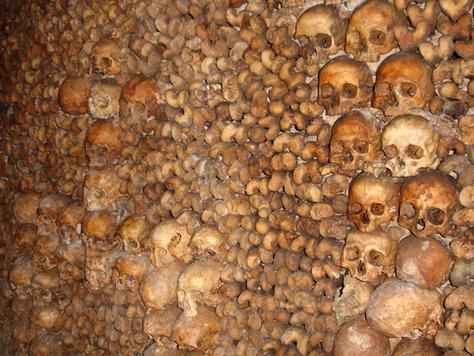 SINISTER Catacombs beneath Paris, ranked among of the most haunted places on Earth, were one of 57 places the bizarre ritual took place.