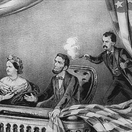 NATIONAL TRAGEDY: John Wilkes Booth ruins the Lincolns' night at the theater.