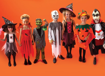 Responsible parents dress their children in protective costumes like these each Halloween.