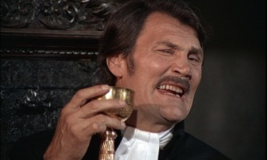 "FATHER ANTONIN, played by Jack Palance as in ""Deadly Sanctuary"" (1969). In this version of the Marquis De Sade's ""Justine,"" Father Antonin livens up monastery life by subjecting the title character to torture and sexual abuse. Palance is no stranger to over-acting, but this performance is over-the top even for him, one critic calling it ""one of the most bizarre ever seen on film."" Perhaps he was trying to balance out the wooden star Romina Power, daughter of screen legend Tyrone Power. ""She was a like a piece of furniture,"" director Jesus Franco later grumbled. ""It was as if I was making Bambi 2."" Well, Bambi 2 with sex and sadism."