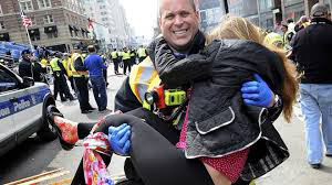 THE SPIRIT of Bostonians could not be crushed, as proved by countless acts of heroism.
