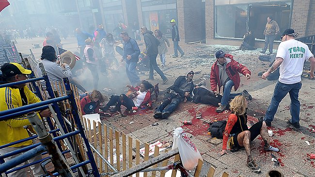 DAY OF TERROR: Cowardly fanatics unleashed death and mayhem at the Boston Marathon April 15, 2013.
