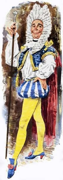 DANDIES like this 18th century fop held onto their preference for bright colors after being vampirized.