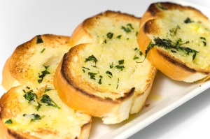YUMMY garlic bread is one of many foods enjoyed by vampires.