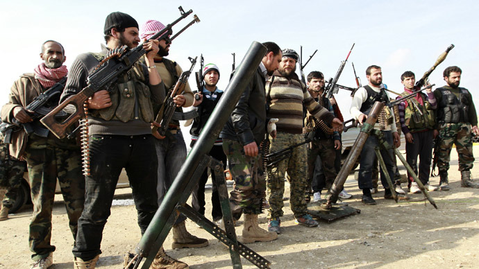 SYRIAN rebels like these brave freedom fighters are good guys ... for now.