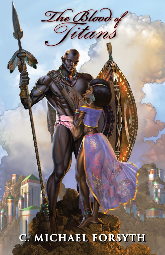 """""""The Blood of Titans"""" is a tale of love and adventure set in the Golden Age of Africa."""