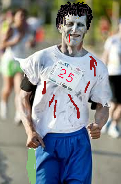 QUCK AND THE UNDEAD: Zombie known only as Jacques is the fastest ever recorded.
