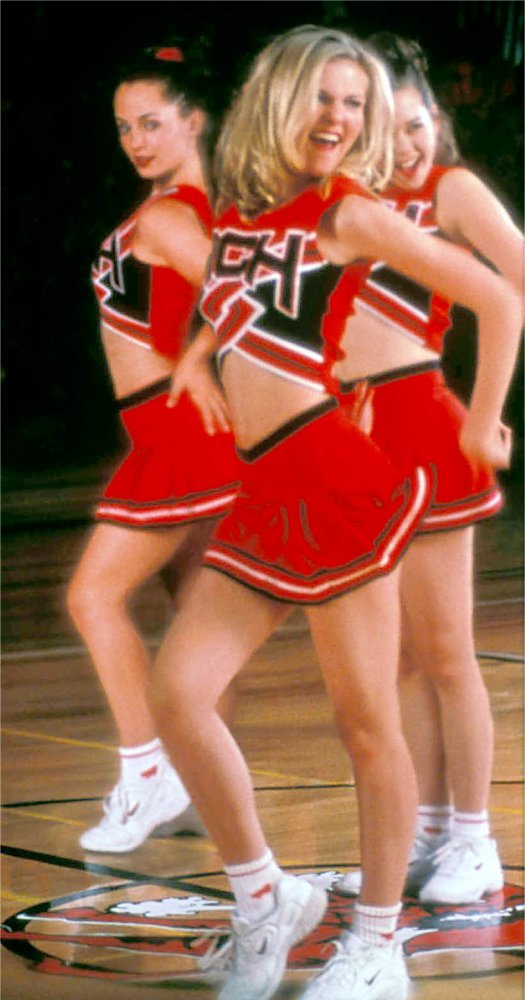 "Hundreds of cheerleaders nationwide are in league with the Devil, unlike these characters in the hit movie ""Bring It On."""