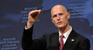 INNOVATIVE Gov. Rick Scott has turned to magic to keep sea levels from soon rising above tourists' heads.