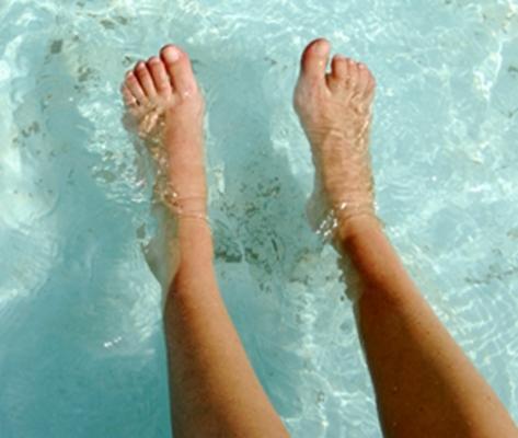feet water