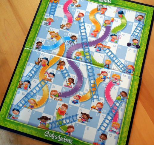 Chutes and ladders not ouija boards leads to demon for Chutes and ladders board game template