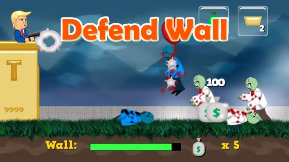 Trump wall zombie game