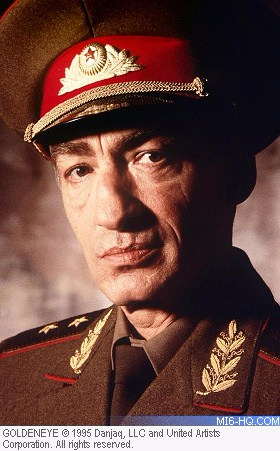 Russian General Ourumov in 'GoldenEye',