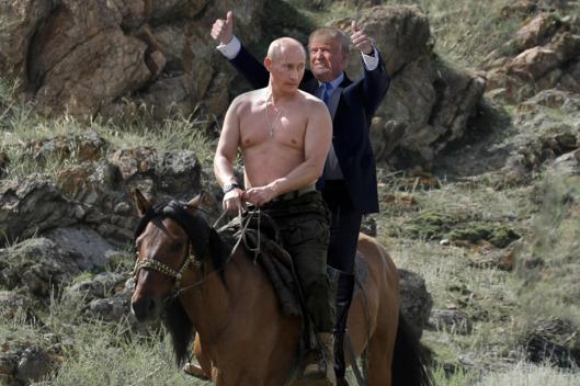 Trump Putin Horse