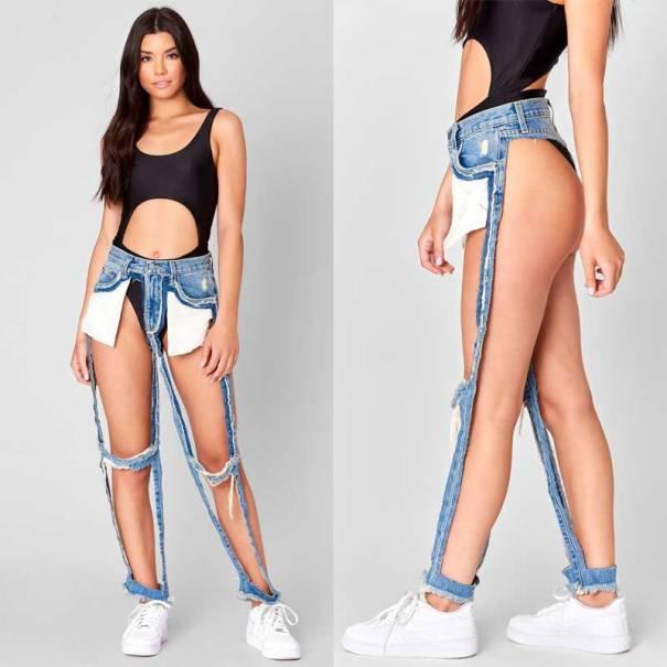 Carmar denim extreme cutout jeans $168
